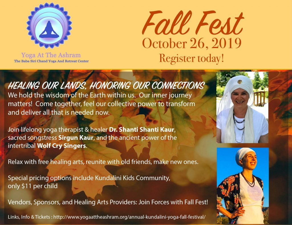 Annual Kundalini Yoga & Music Fall Festival at the Millis Ashram Oct